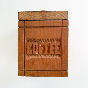 Vintage Farmhouse Wooden Coffee Box with Lid